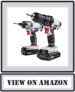 PORTER-CABLE PCCK604L2 20V MAX 2-Tool Cordless Drill/Driver and Impact Driver Combo Kit
