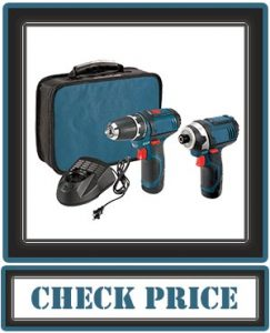 Bosch Power Tools Combo Kit CLPK22- 12-Volt 2-Tool Cordless Combo Kit (Drill-Driver and Impact Driver) with 2 Batteries, Charger and Case